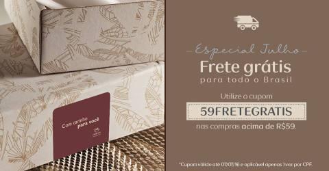 CUPOM FRETE GRÁTIS NATURA REDE NATURA ESPAÇO CAROLINA DO VALLE até 07 07 2016