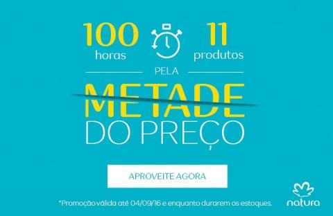 11 produtos Natura com 50% de desconto de 01 a 04 09 2016