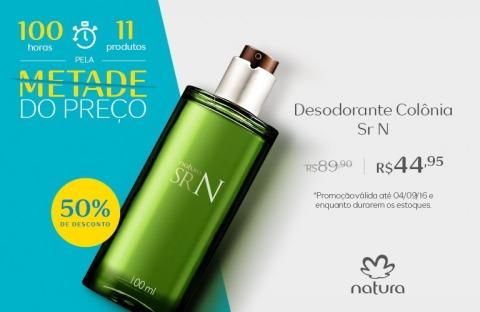 Natura Sr N com 50% de desconto de 01 a 04 09 2016